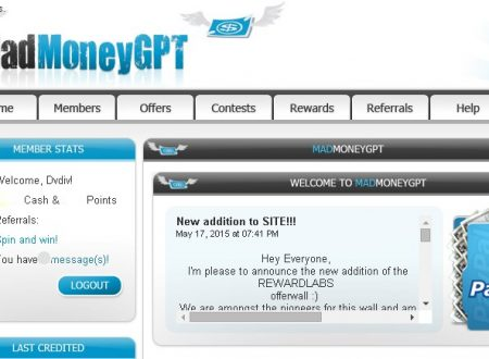 Mad Money Gpt  [ PTC  Pagante ] –  Guadagna Gratuitamente con i Click