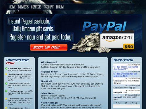 Cash Rocket Gpt  [ PTC  Pagante ] –  Guadagna Gratuitamente con i Click