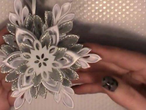 Video DvdiV – Utile , come Creare un Fiocco di Neve , Tecnica Kanzashi