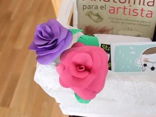 Video DvdiV – Utile , come Realizzare Stupendi Fiori con Fogli di Gomma
