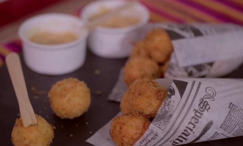 Ricetta , per Polpettine Fritte con Salmone e Patate alla Paprika
