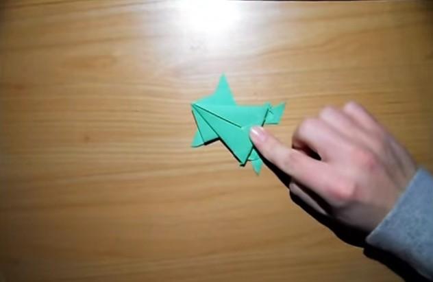 Funny , Arte dell' Origami Tutorial la Rana Salta