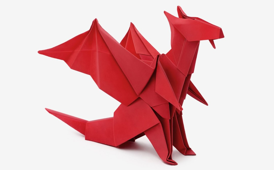 Funny , Arte dell' Origami per Creare un Fantastico Dragone b