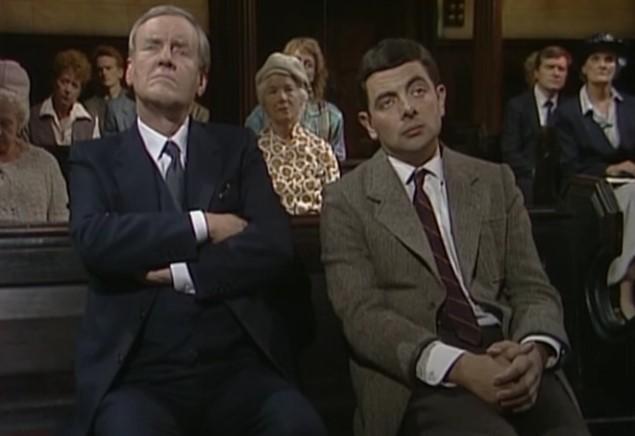 Funny , Gag in Asleep in Church con Mr. Bean