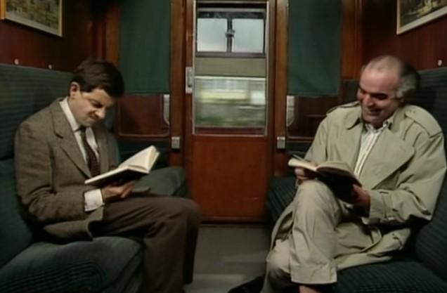 Funny , Gag in Takes the Train con Mr. Bean