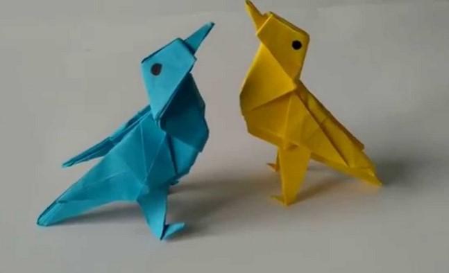 Funny ,  Arte  dell'  Origami  per  Creare un  Twitter Bird b