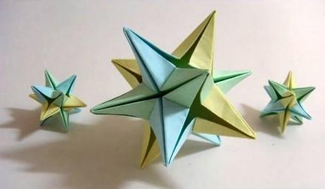 Funny , Arte dell' Origami per Creare una Omega Star b
