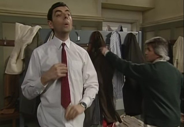 Funny , Gag in Reclaims his Trousers con Mr. Bean
