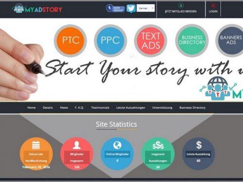 MAS  –  My Ad Story  [ Revenue Sharing  Pagante ] –  Guadagna con i Click