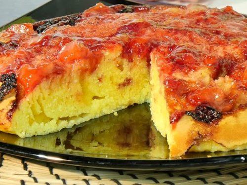 Video DvdiV – Ricetta , per Preparare una Torta di Fragole Rovesciata in Padella