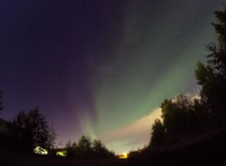Video  DvdiV –  Spettacolare ,  Aurora  Boreale  13th of  February  2014
