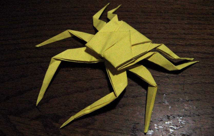 Funny , Arte dell' Origami per Creare un Spider Crab