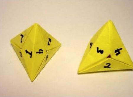 Video  DvdiV –  Funny ,  Arte  dell'  Origami  per  Creare un  Four Sided Dice