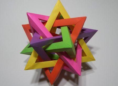 Video DvdiV – Funny , Arte dell' Origami per Creare un Five Intersecting Tetrahedra