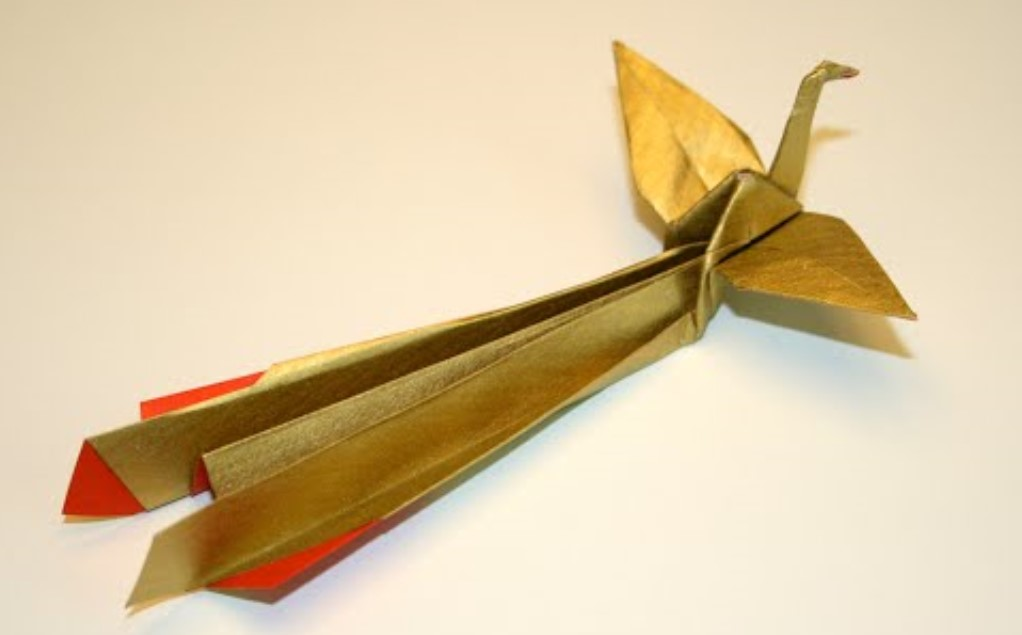 Funny , Arte dell' Origami per Creare un Houou Phoenix