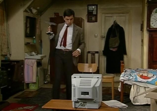 Funny , Gag in Tv Aerial con il Fantastico Mr. Bean