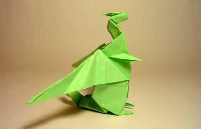 Funny , Arte dell' Origami per Creare un Fantastico Dragone