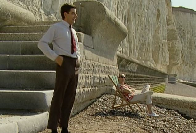 Funny , Gag in at the Beach con il Fantastico Mr. Bean