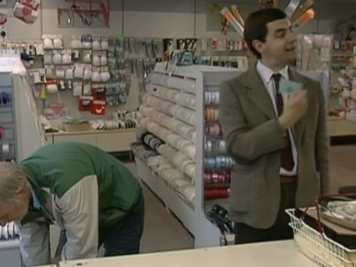 "Video  DvdiV –  Funny ,  Gag  in  "" Credit Card mix up ""  con il  Fantastico  Mr. Bean"