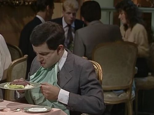 "Video  DvdiV –  Funny ,  Gag  in  "" Steak Tartare ""  con il  Fantastico  Mr. Bean"