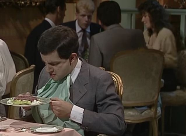 funny-gag-in-steak-tartare-con-il-fantastico-mr-bean